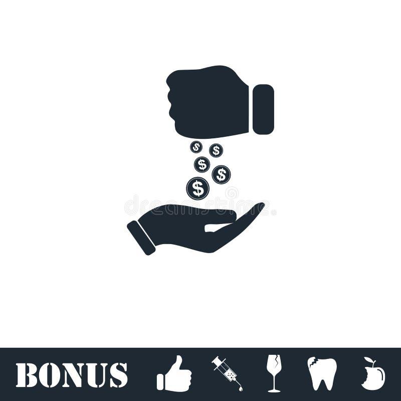 Plano del icono del soborno ilustración del vector