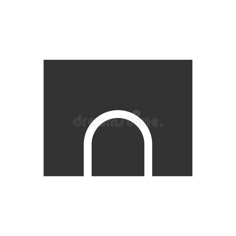 Plano del icono del túnel stock de ilustración
