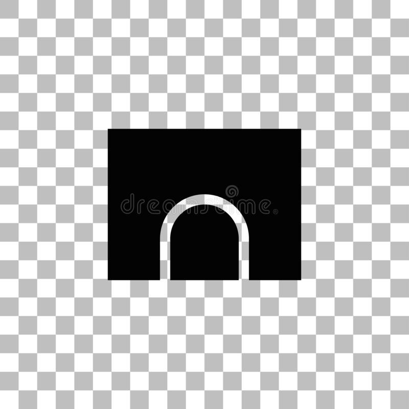 Plano del icono del t?nel stock de ilustración