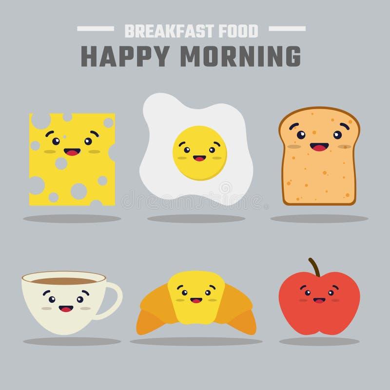 Plano del menú del desayuno ilustración del vector