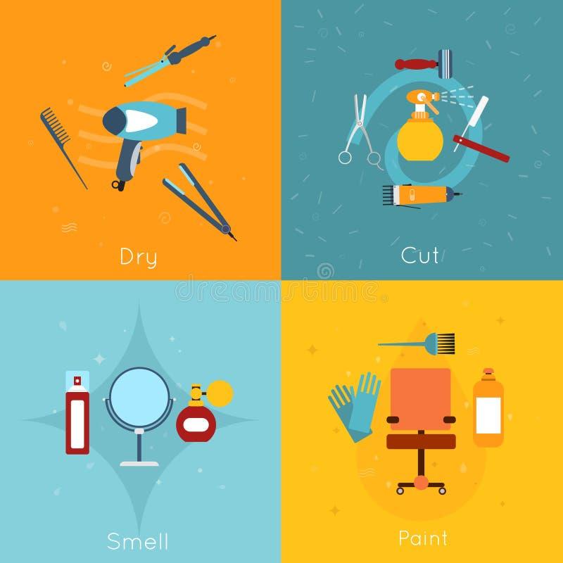Plano determinado del icono del peluquero libre illustration