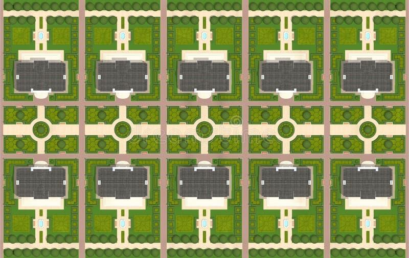 Plano diretor da vila ilustração royalty free