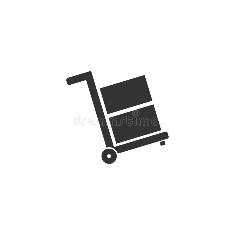 Plano do ícone do carrinho de mão ilustração royalty free