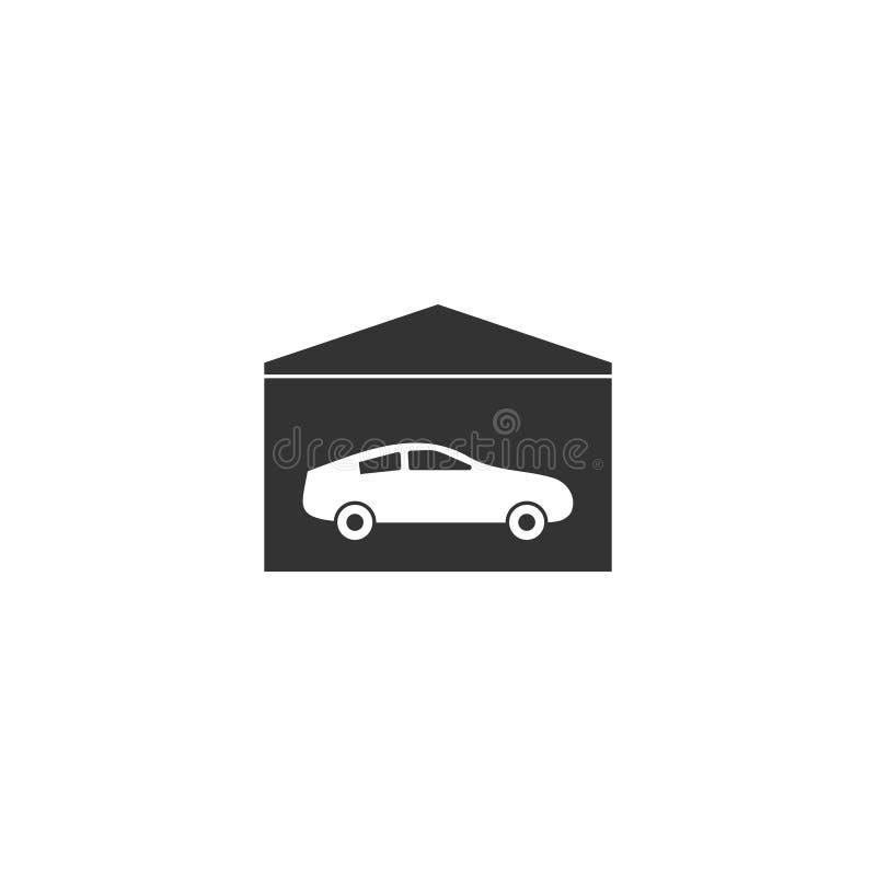 Plano do ícone da garagem ilustração stock