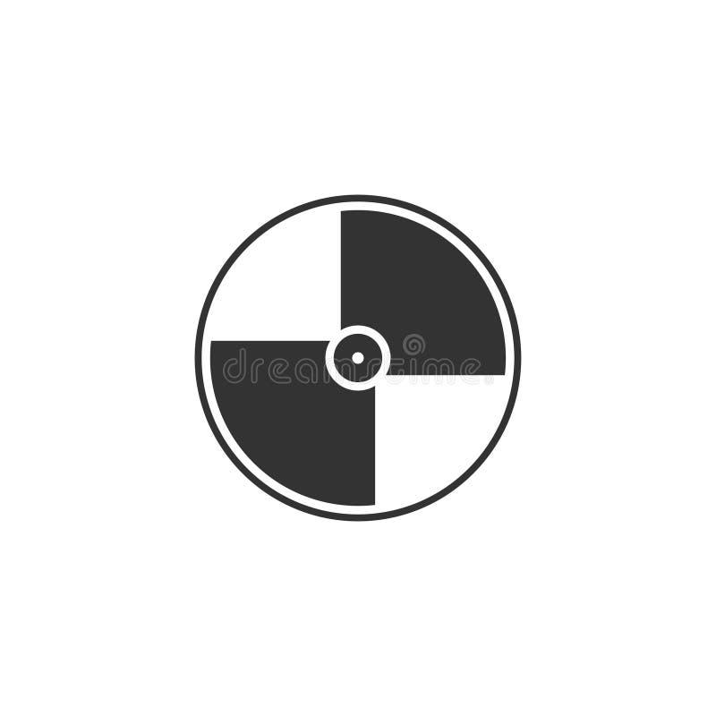 Plano do ícone do disco ilustração stock