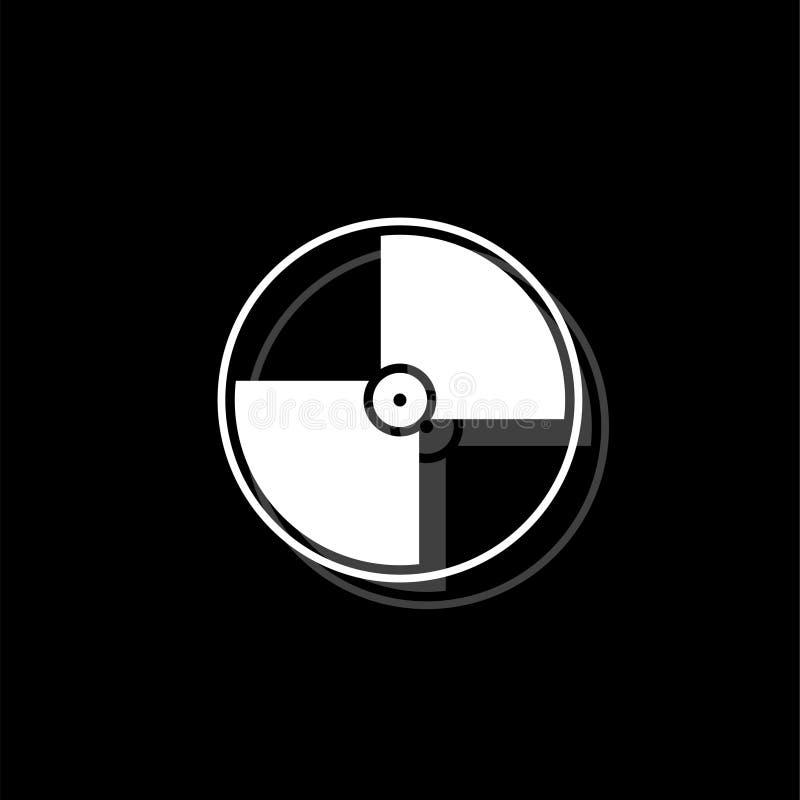 Plano do ícone do disco ilustração royalty free