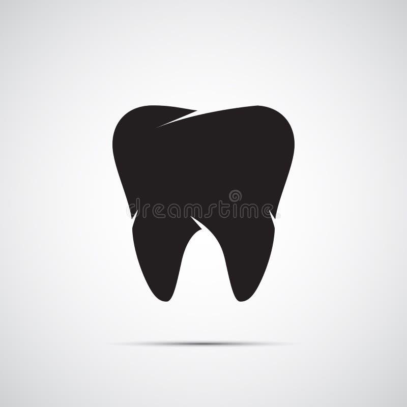 Plano do ícone dos dentes ilustração stock