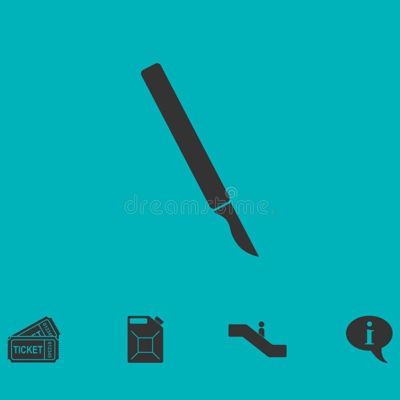 Plano do ícone do escalpelo ilustração royalty free
