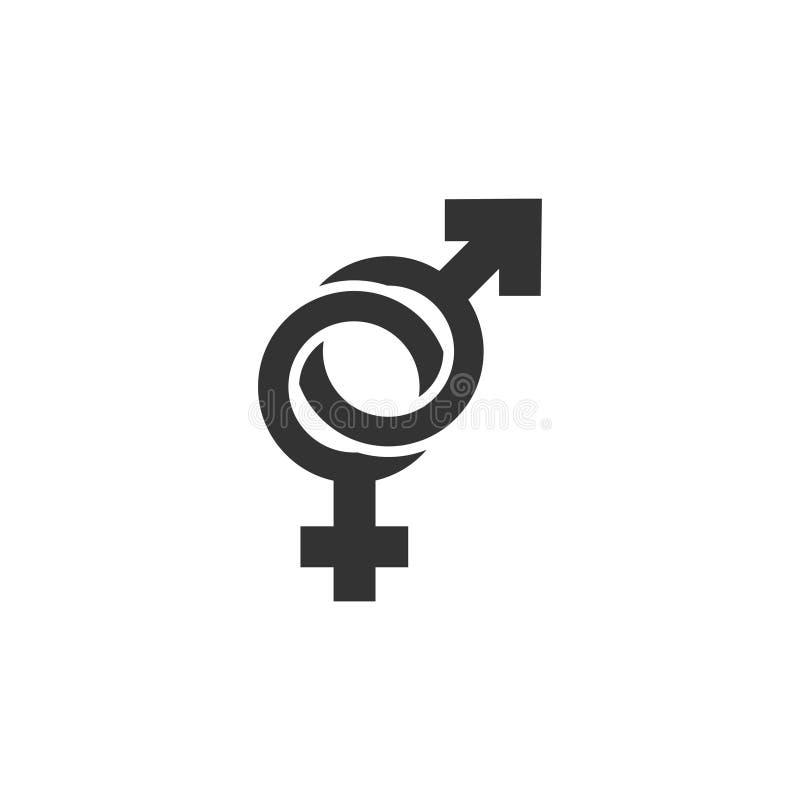 Plano do ícone do gênero ilustração royalty free