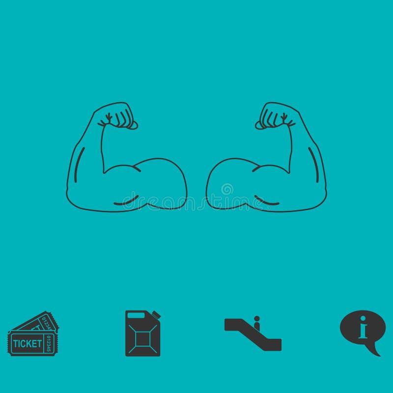 Plano do ícone do Gym ilustração stock