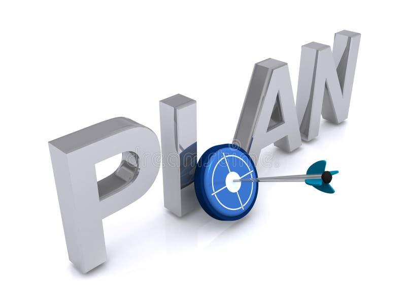 Plano do alvo ilustração stock