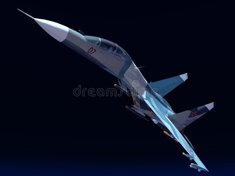 Plano do combate do russo ilustração royalty free