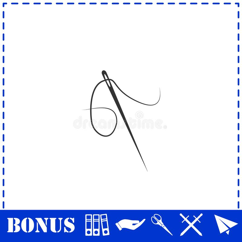 Plano do ?cone da agulha ilustração do vetor