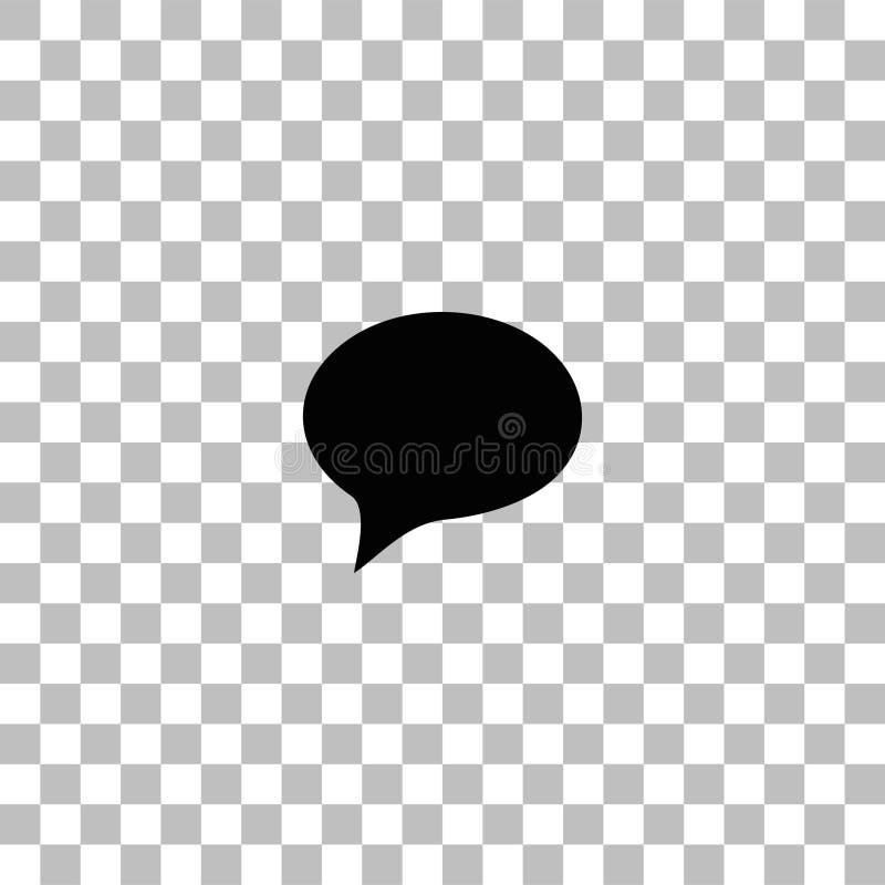 Plano do ?cone da bolha ilustração royalty free