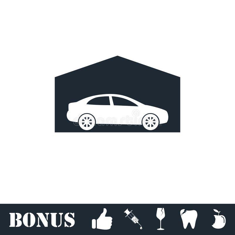 Plano do ?cone da garagem ilustração stock