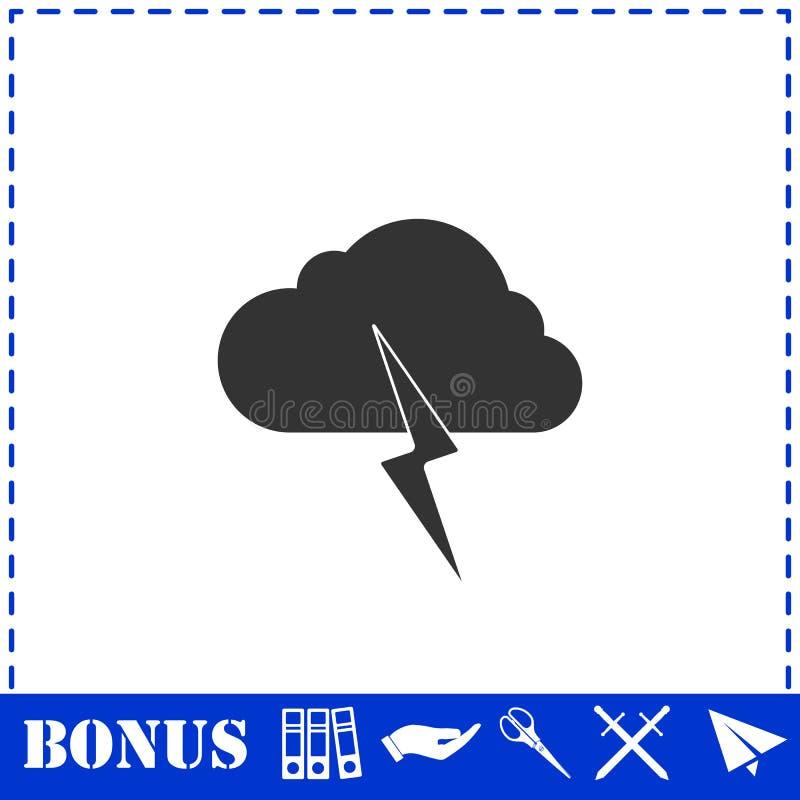 Plano do ?cone da tempestade ilustração royalty free