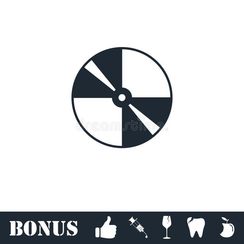 Plano do ?cone do disco ilustração royalty free