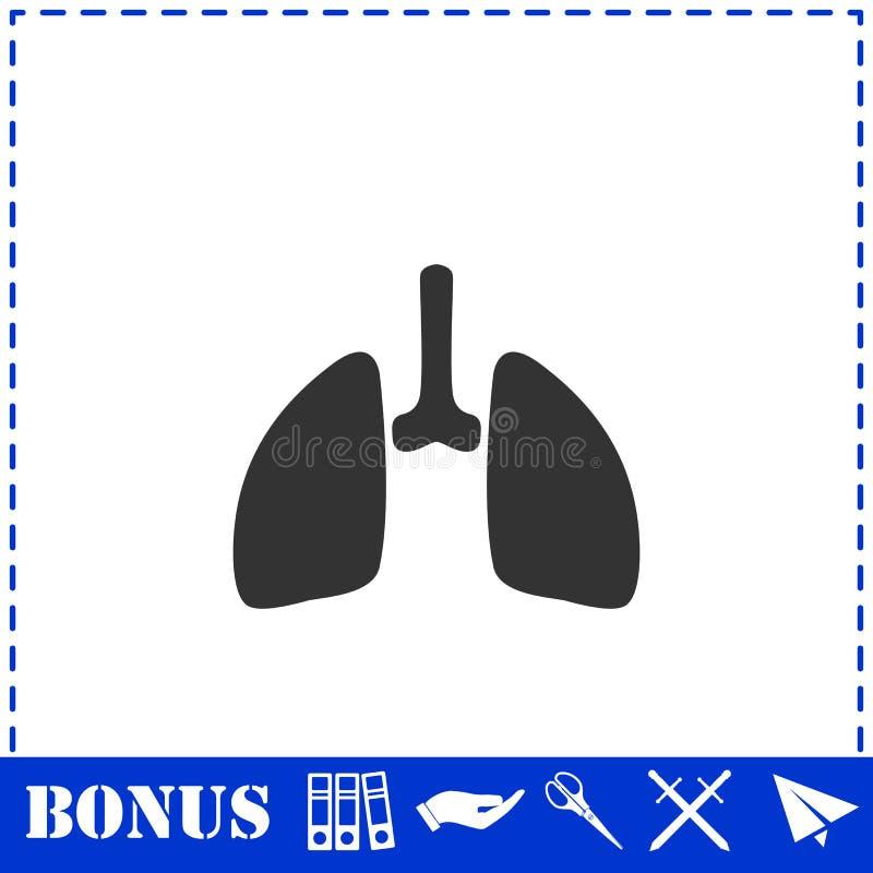 Plano do ?cone dos pulm?es ilustração do vetor