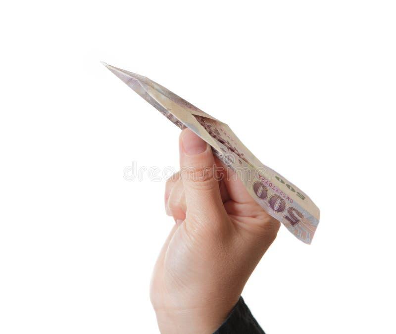 Plano do dinheiro da tomada da mão imagem de stock