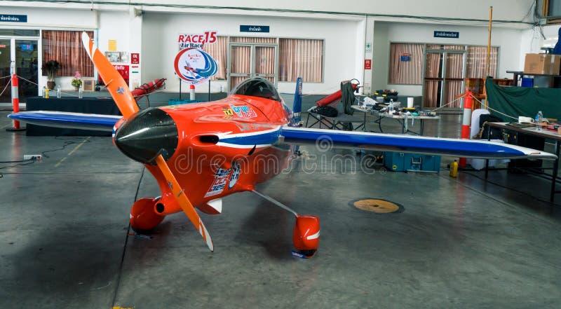 Plano do ` s de Ryszard Zadow nenhum 15 aviões do ` de Lap Player do ` últimos modelam Cassutt III-M no campeonato do mundo Tailâ imagem de stock
