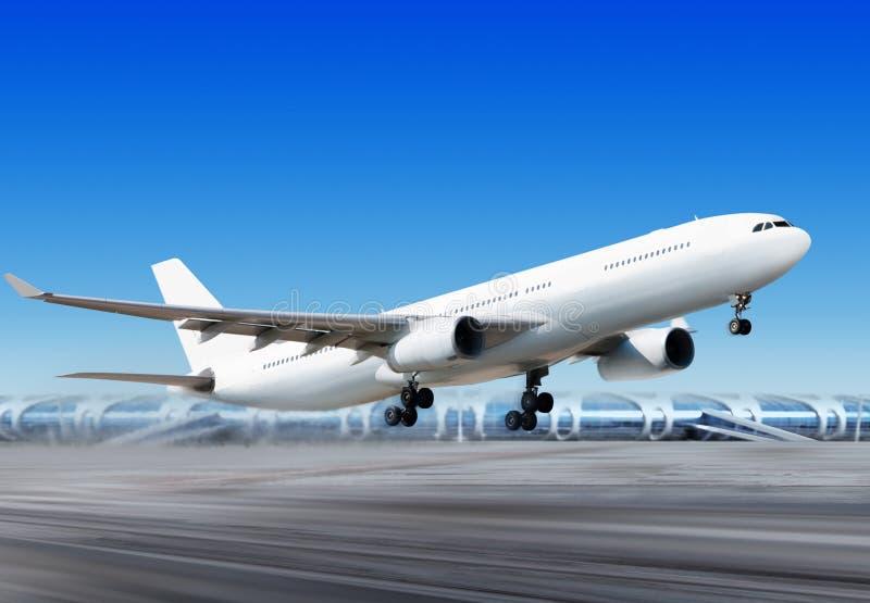 Plano do Vôo-fora do aeroporto imagens de stock royalty free