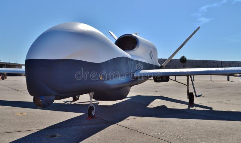 Plano do zangão/espião de MQ-4C Triton foto de stock royalty free