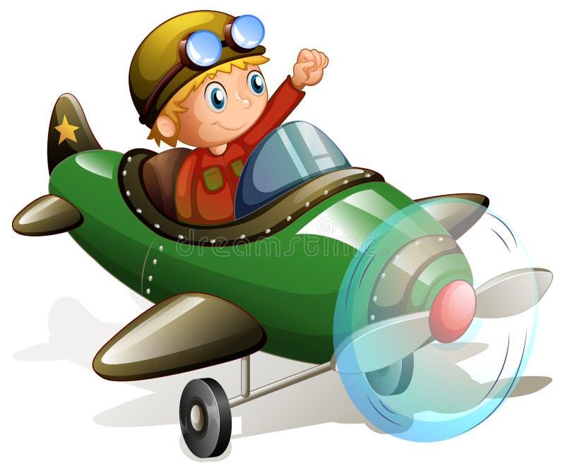 Plano e piloto ilustração royalty free