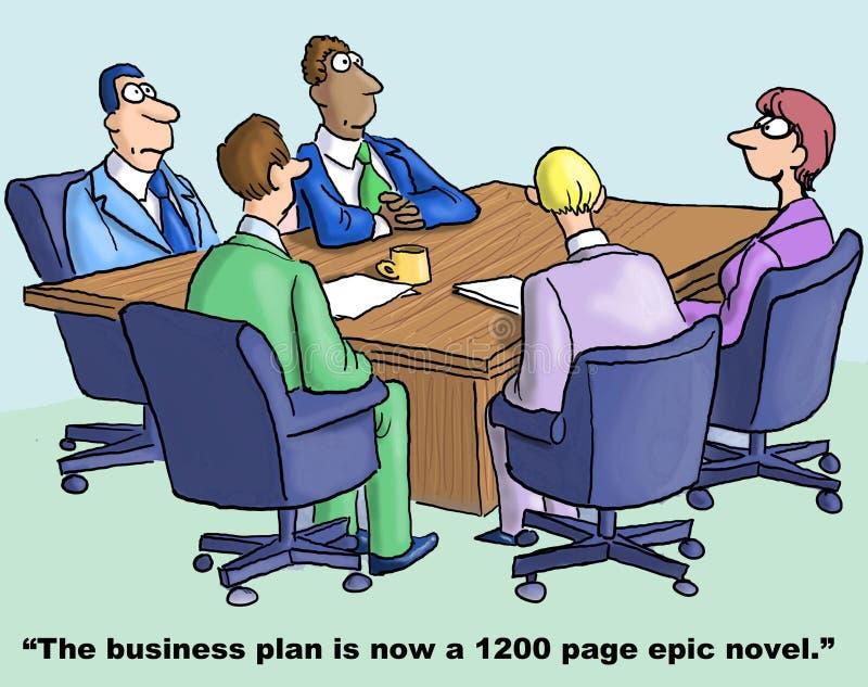 Plano empresarial ilustração royalty free