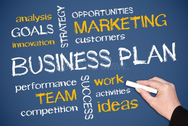 Plano empresarial soletrado para fora imagem de stock