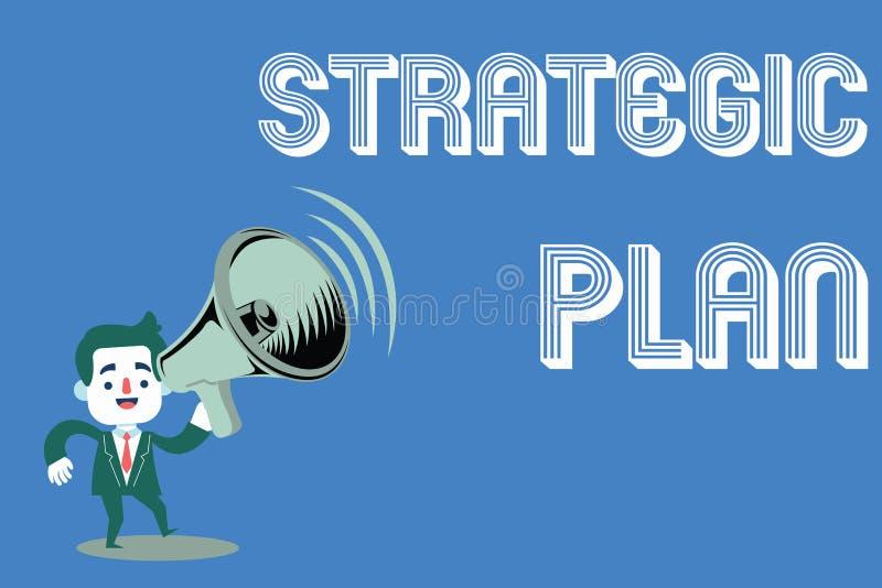Plano estratégico do texto da escrita da palavra Conceito do negócio para o processo de A de definir a estratégia e de fazer deci imagem de stock