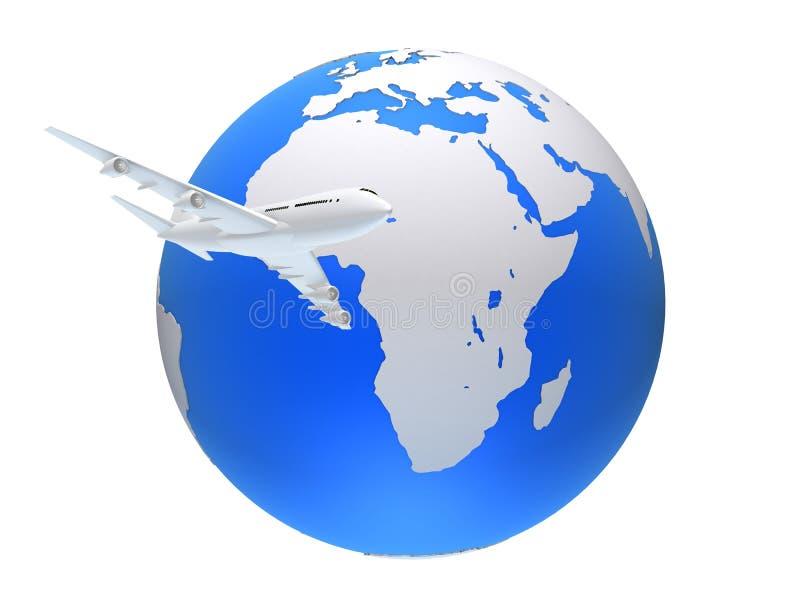 Plano global ilustração royalty free
