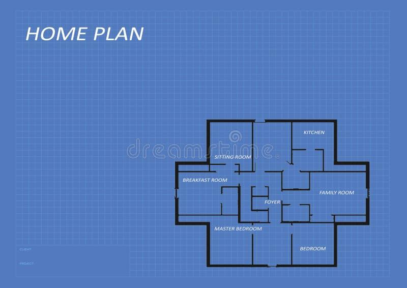 Plano home da arquitetura fotografia de stock