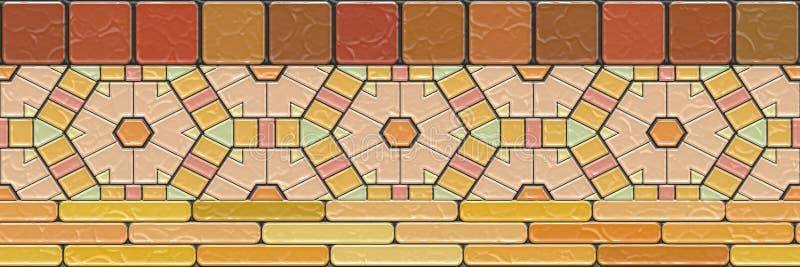 Plano mosaico- Ilustración 3d. Arte Kaleidoscópico - geometría ornamentada sin fisuras fotografía de archivo libre de regalías