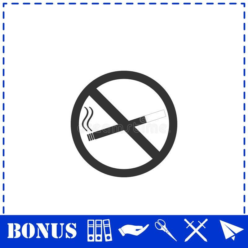 Plano n?o fumadores do ?cone ilustração stock
