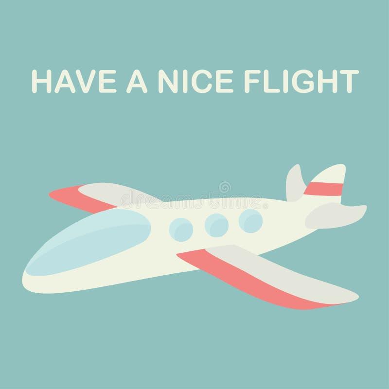 Plano pessoal Tenha um vôo agradável ilustração stock