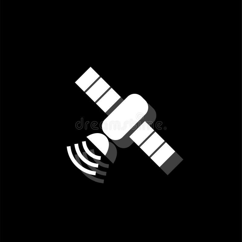 Plano por satélite del icono libre illustration