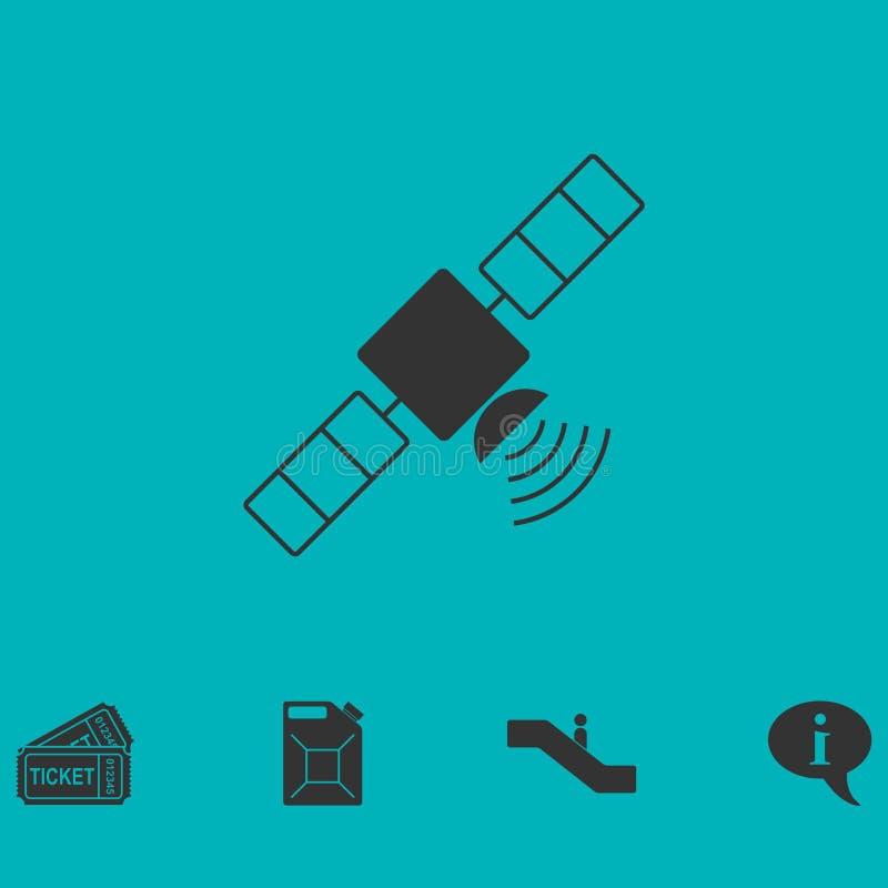 Plano satélite do ícone ilustração do vetor