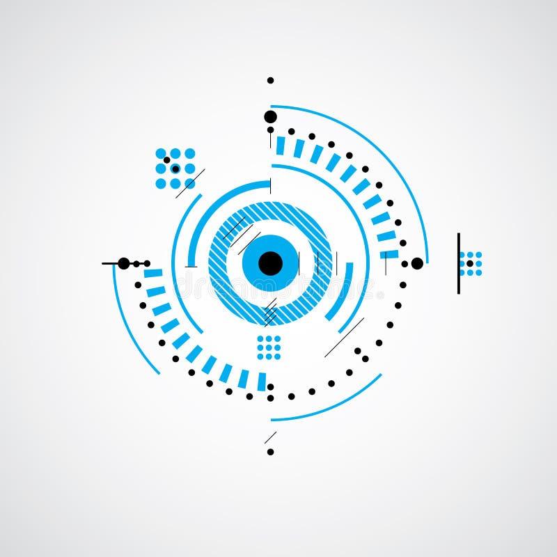 Plano técnico, esboço abstrato da engenharia para o uso no gráfico ilustração do vetor