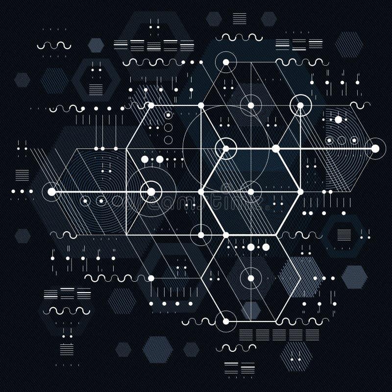 Plano técnico, projetando o esboço Desenho do vetor de industrial ilustração stock