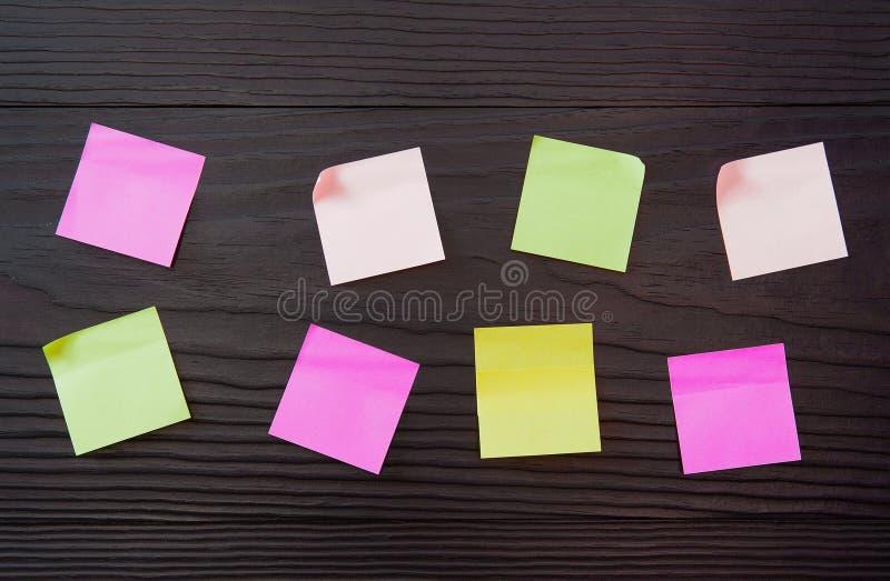 Plano um B C em etiquetas do escritório Etiquetas vazias do escritório foto de stock royalty free