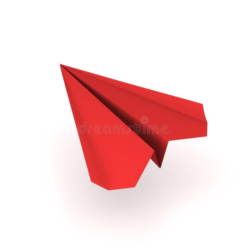 Plano vermelho do origami ilustração do vetor