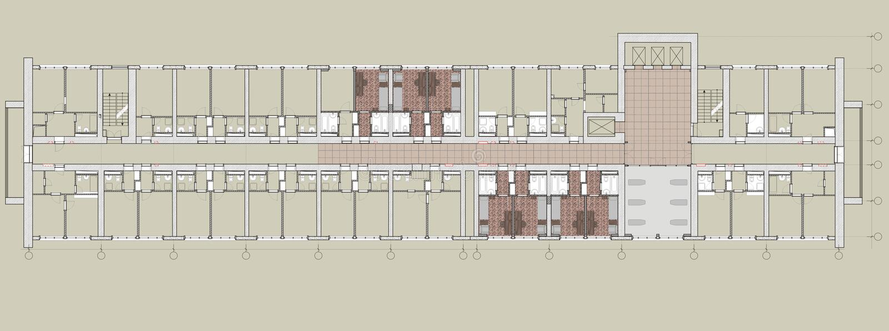 Planopenbare gebouwen royalty-vrije illustratie