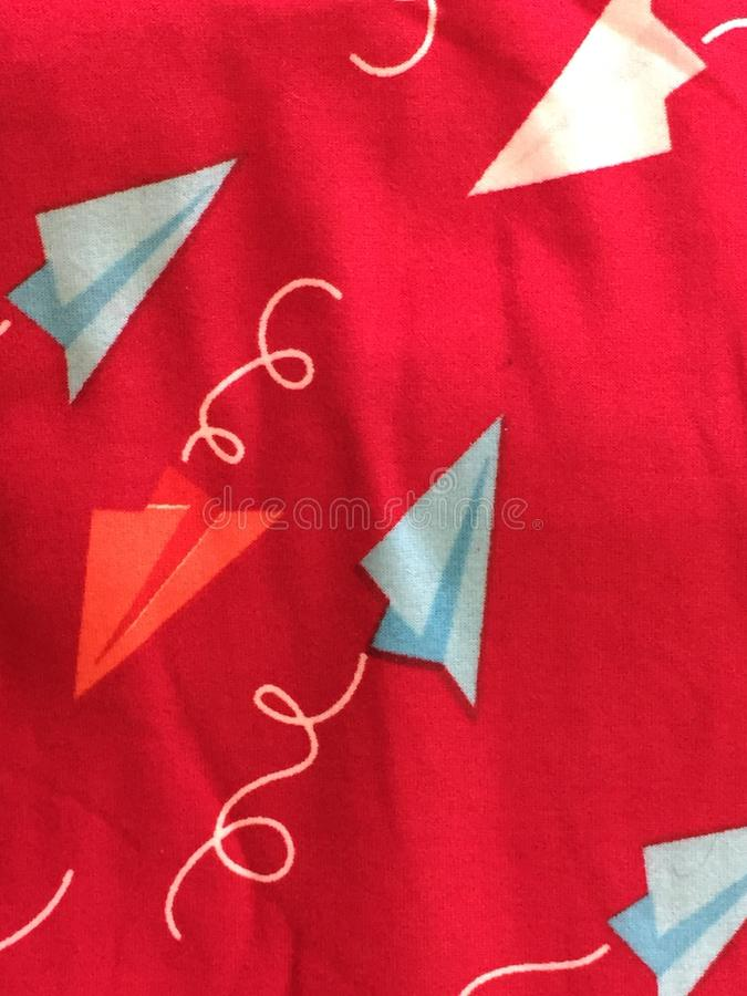 Planos azuis brancos vermelhos foto de stock royalty free