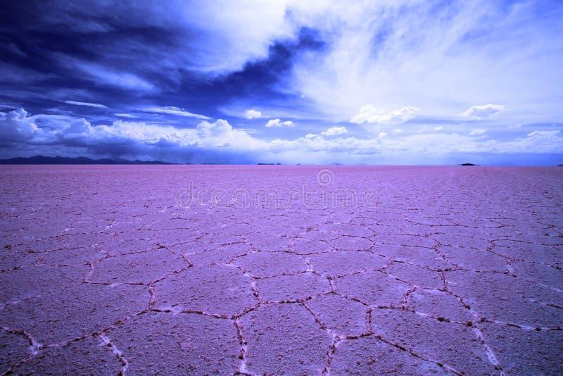 Planos coloridos de la sal, Salar De Uyuni, Bolivia, Suramérica fotografía de archivo libre de regalías