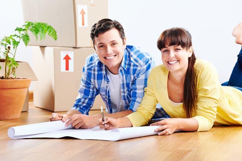 Planos da casa nova imagens de stock royalty free
