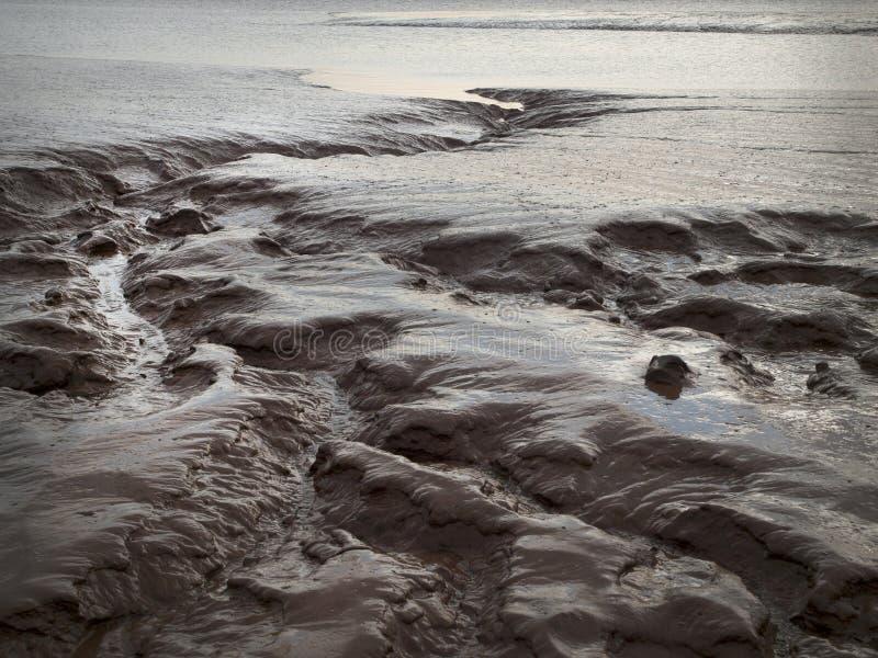 Planos de fango mojados agua foto de archivo libre de regalías