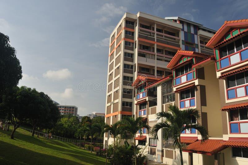 Planos de HDB em Singapore imagens de stock
