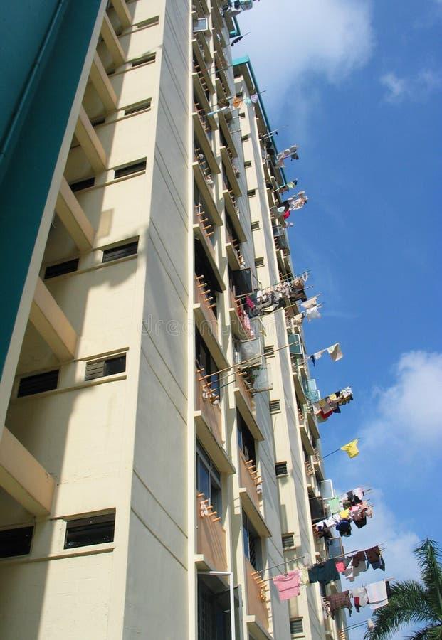 Planos De HDB En Singapur Foto de archivo libre de regalías
