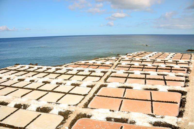 Planos de la sal en las islas de Canry foto de archivo libre de regalías