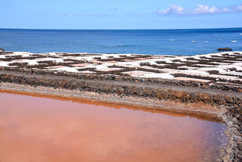 Planos de la sal en las islas de Canry imagen de archivo libre de regalías